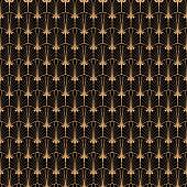 Seamless pattern in art deco retro style