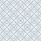 Seamless pattern in floral style. Spirals and curls United with each other.