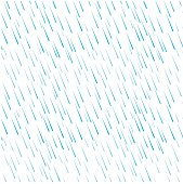 Seamless pattern of blue rain water drops on white