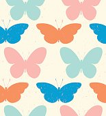 Seamless pattern of colorful butterflies. Colorful butterflies