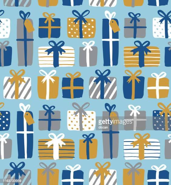 ギフトボックスのシームレスなパターン。 - 誕生日の贈り物点のイラスト素材/クリップアート素材/マンガ素材/アイコン素材