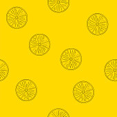 Seamless pattern of lemons.