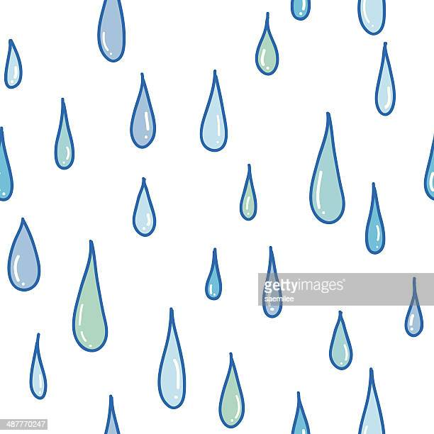 Seamless Pattern Of Raindrops