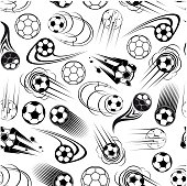Seamless pattern of soccer balls