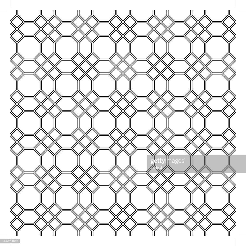 Seamless pattern of the octagon vector