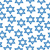 Seamless pattern of the Star of David.