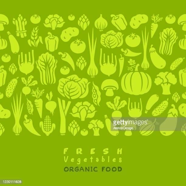 seamless pattern of vegetables. - vegetable stock illustrations