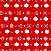 Seamless pattern ornament with snowflakes, Christmas and new year background,