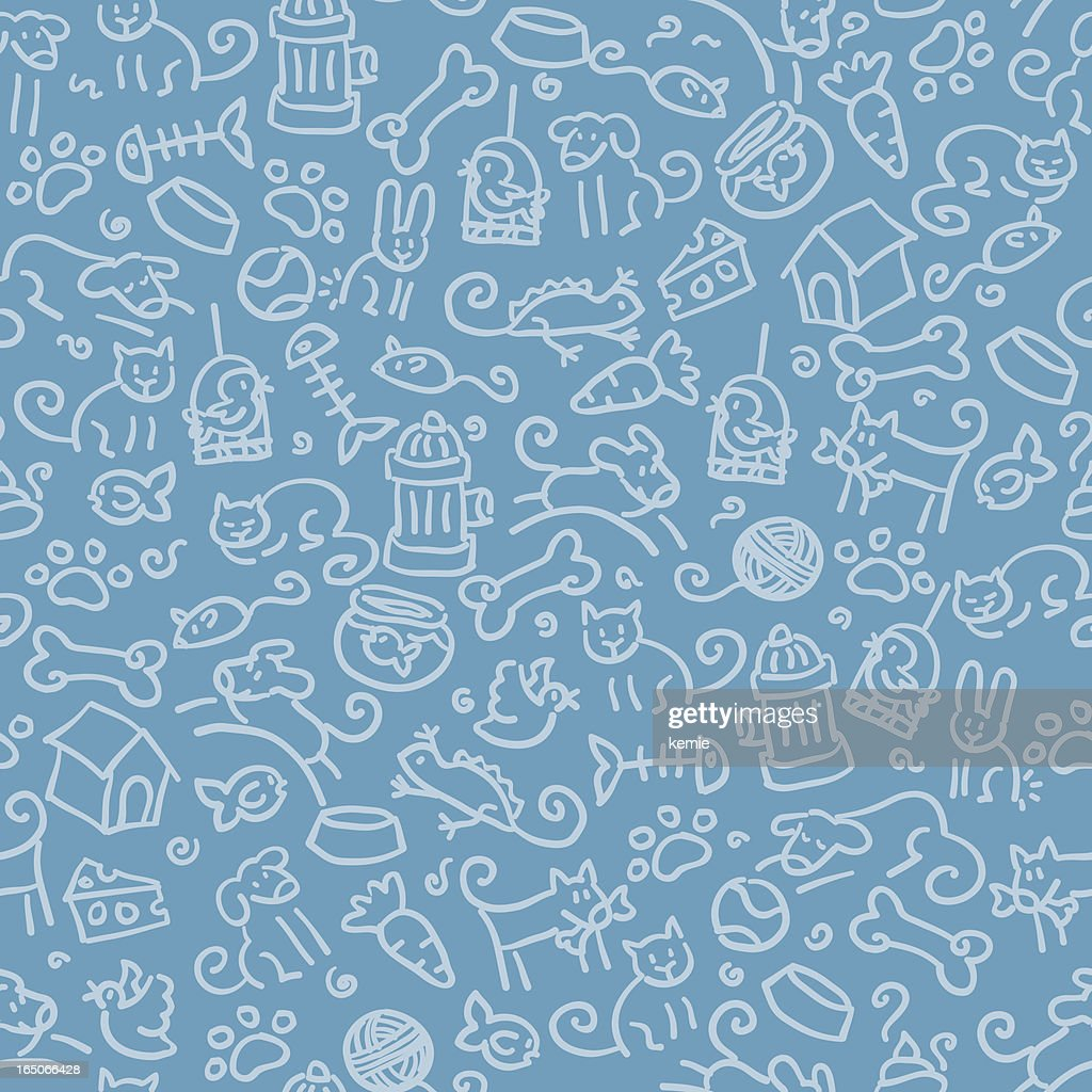 seamless pattern: pets