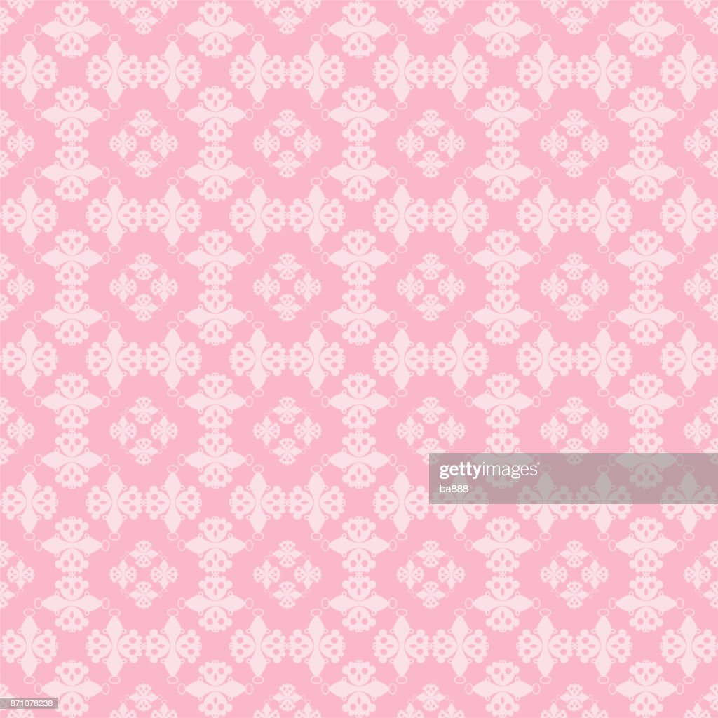 seamless pattern, pink background