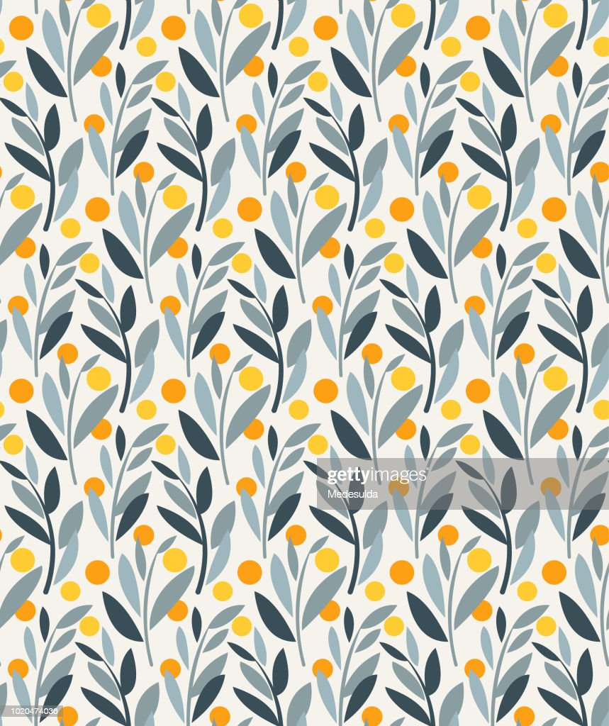 Seamless Pattern Plant Abtract