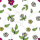 Seamless Pattern Summer Floral Design
