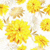 Seamless pattern summer flowers