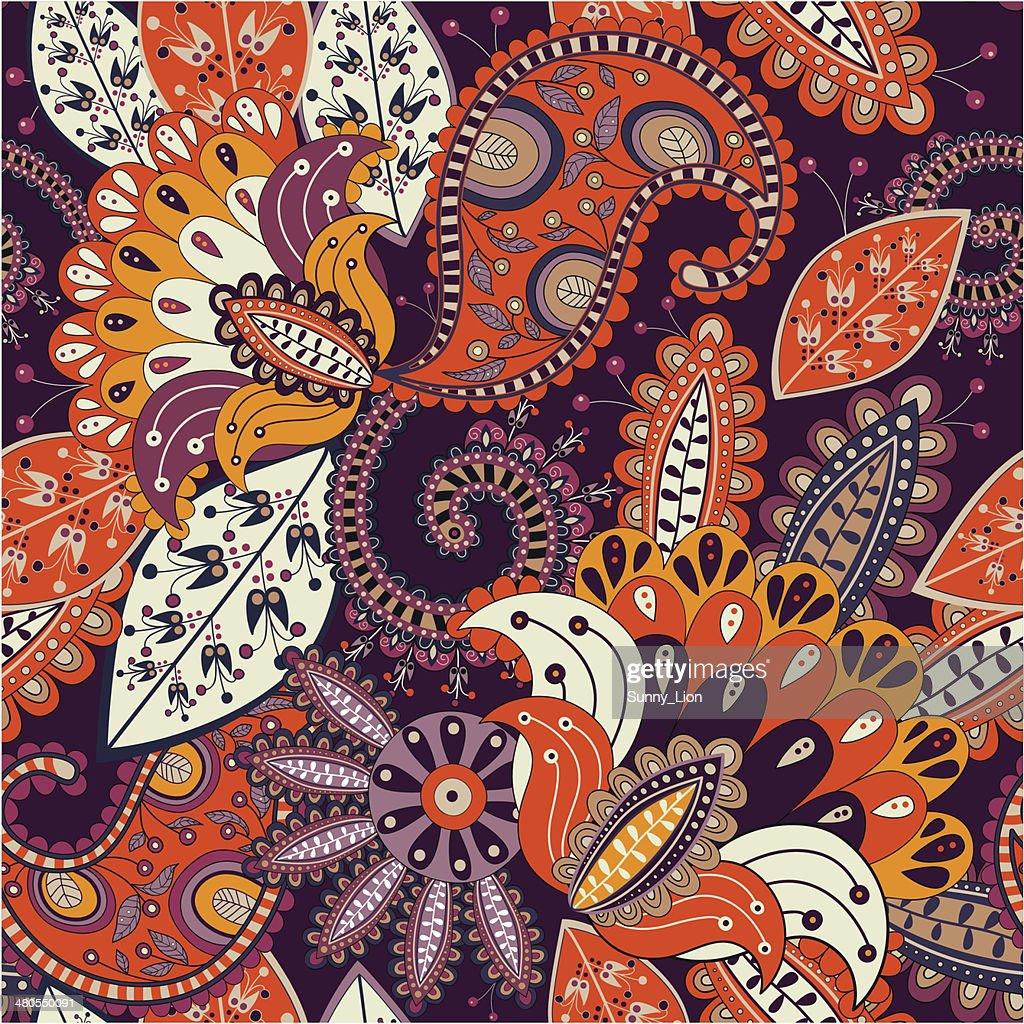 Seamless pattern 'Sunny flowers' : Vector Art