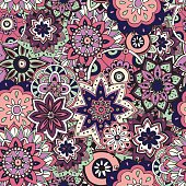 Seamless pattern texture. Indian, arabic, turkish style elements