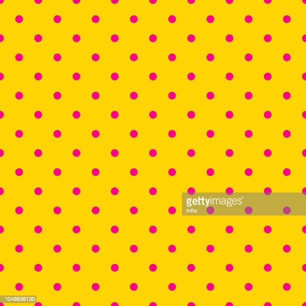 seamless pattern - polka dot stock illustrations