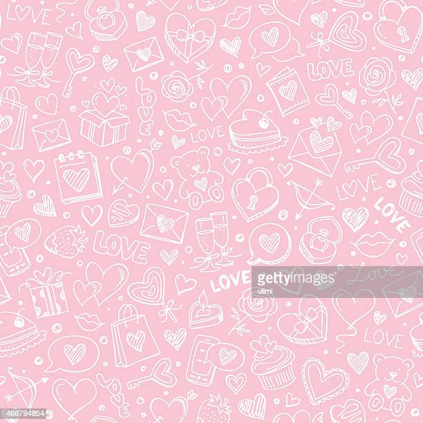 seamless pattern - cute stock illustrations