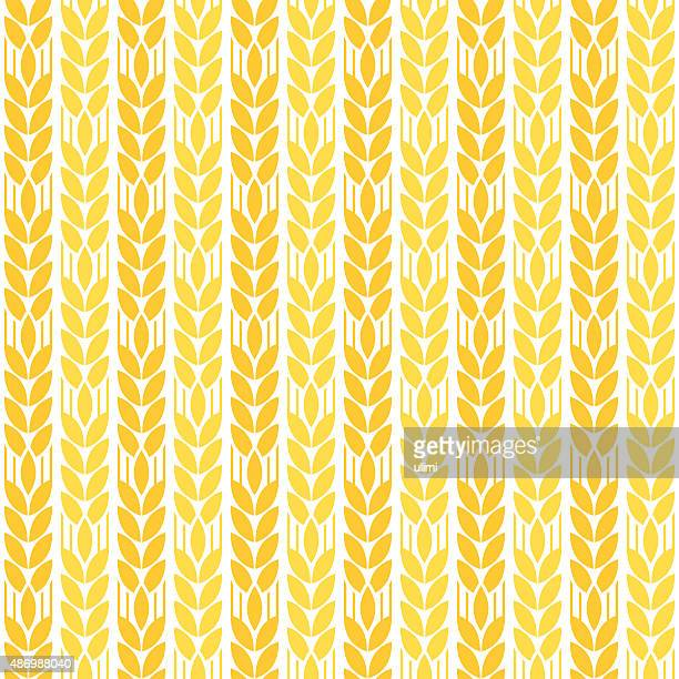 seamless pattern - corn crop stock illustrations, clip art, cartoons, & icons