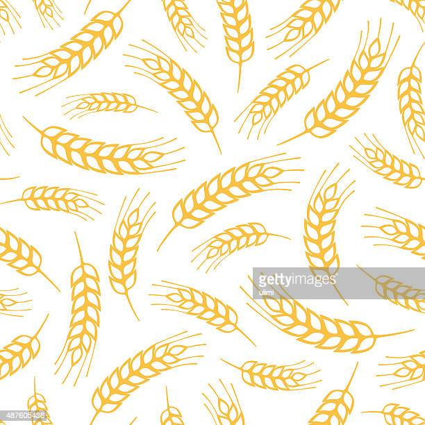 seamless pattern - wheat stock illustrations