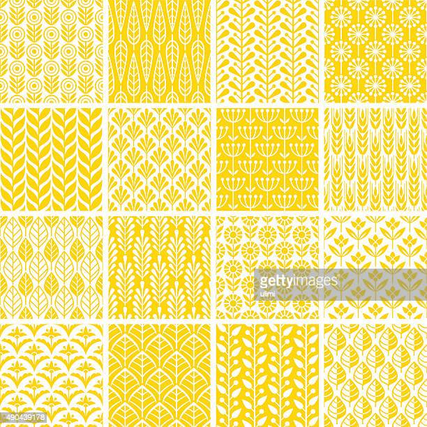 seamless pattern - yellow stock illustrations