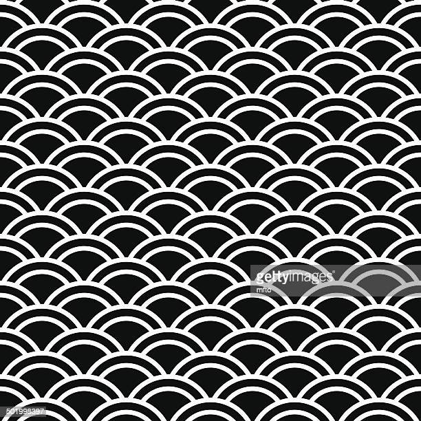 seamless pattern - animal scale stock illustrations