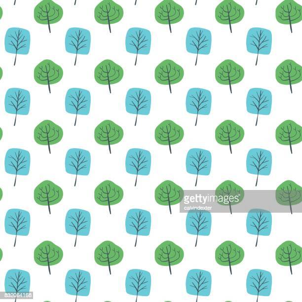 seamless pattern - tree trunk stock illustrations, clip art, cartoons, & icons
