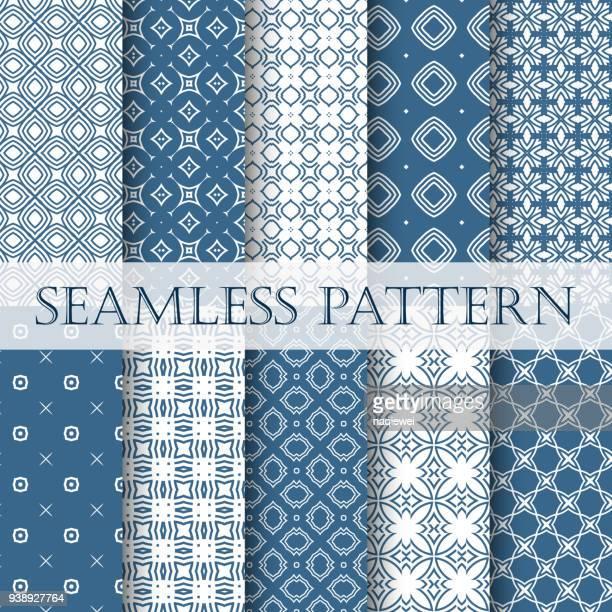 seamless pattern - paisley pattern stock illustrations, clip art, cartoons, & icons