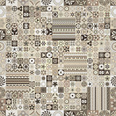 Seamless pattern. Vintage decorative elements. Hand drawn background.