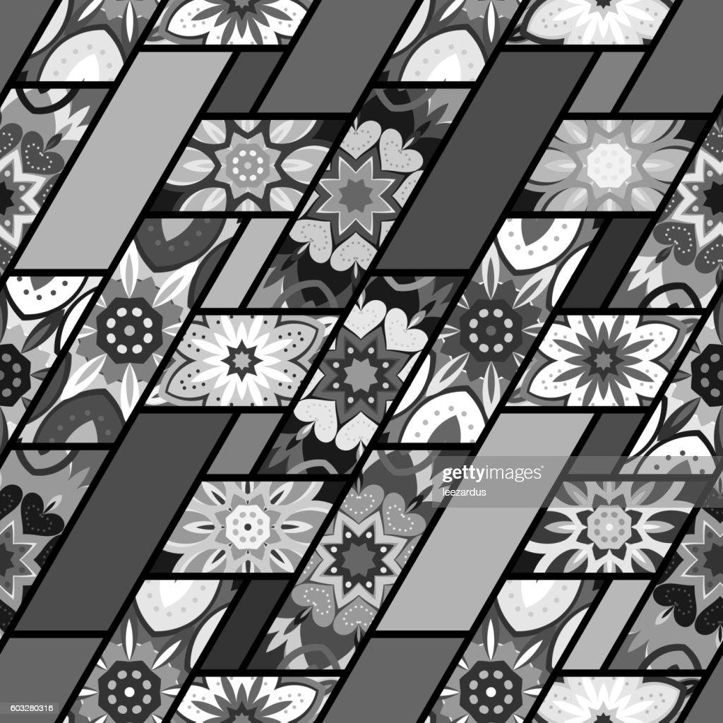 Seamless pattern. Vintage decorative elements. Hand drawn background. Islam, Arabic