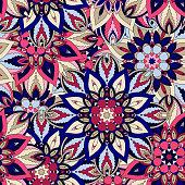 Seamless pattern. Vintage decorative elements. Islam, Arabic, Indian, ottoman motifs.