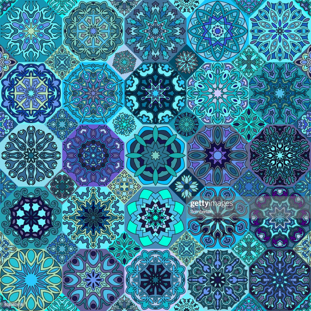 Seamless pattern. Vintage decorative elements.