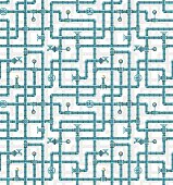 Seamless pattern water pipes