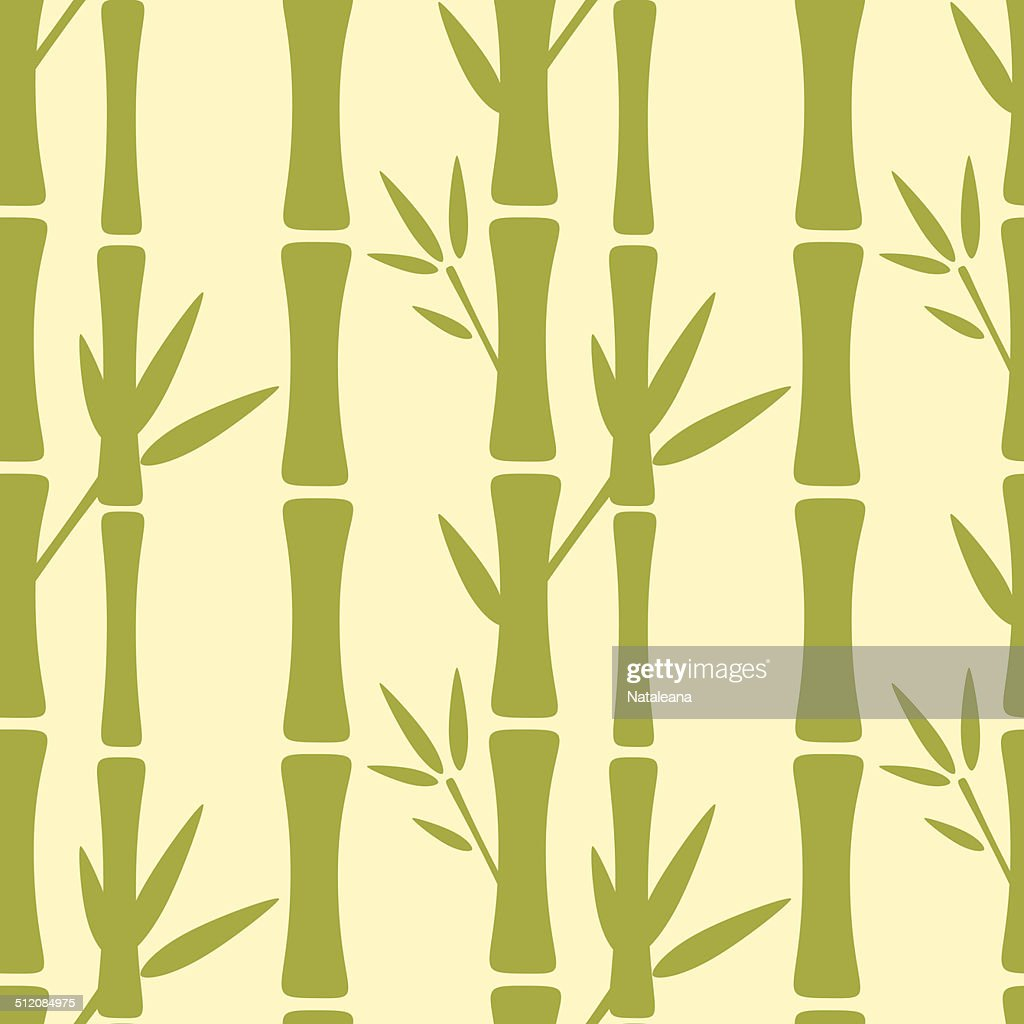 Seamless pattern with bamboo trees