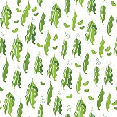 Seamless pattern with Beans