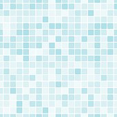 Seamless pattern with blue tiles