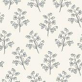 Seamless pattern with buckwheat