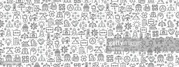 nahtloses muster mit business icons - kapitalrendite stock-grafiken, -clipart, -cartoons und -symbole