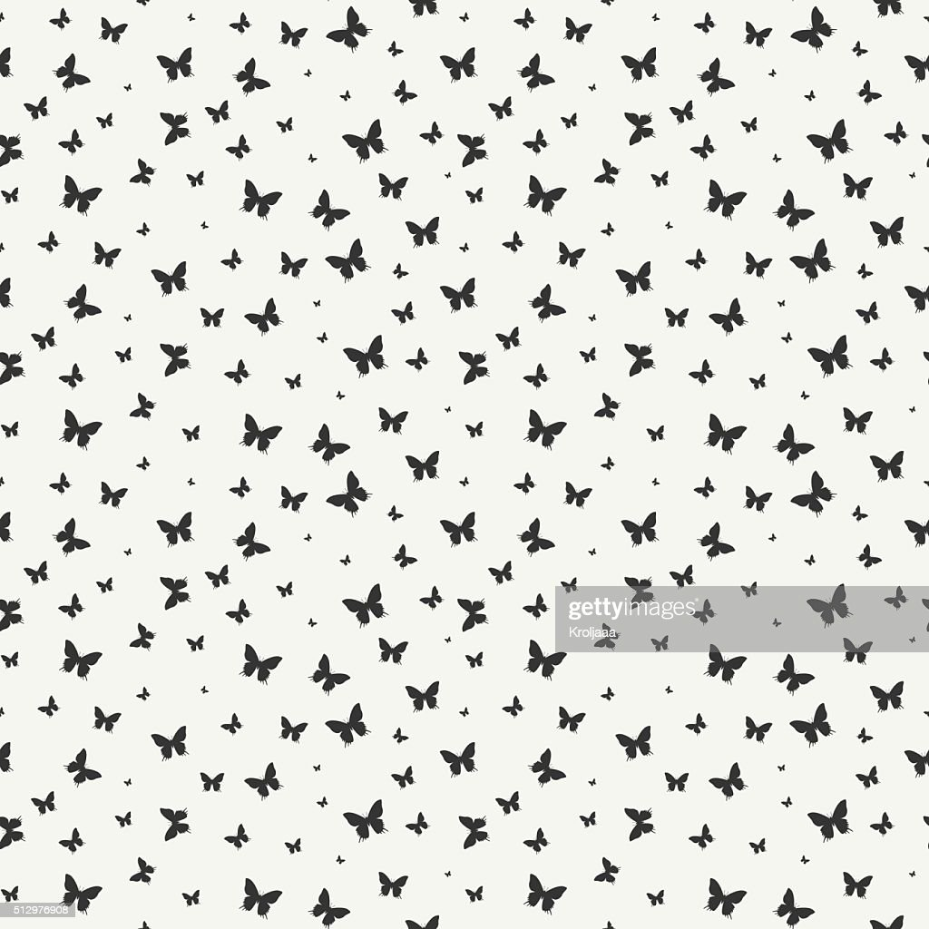 Seamless pattern with butterfly. Wrapping paper. Scrapbook. Tiling. Vector illustration.