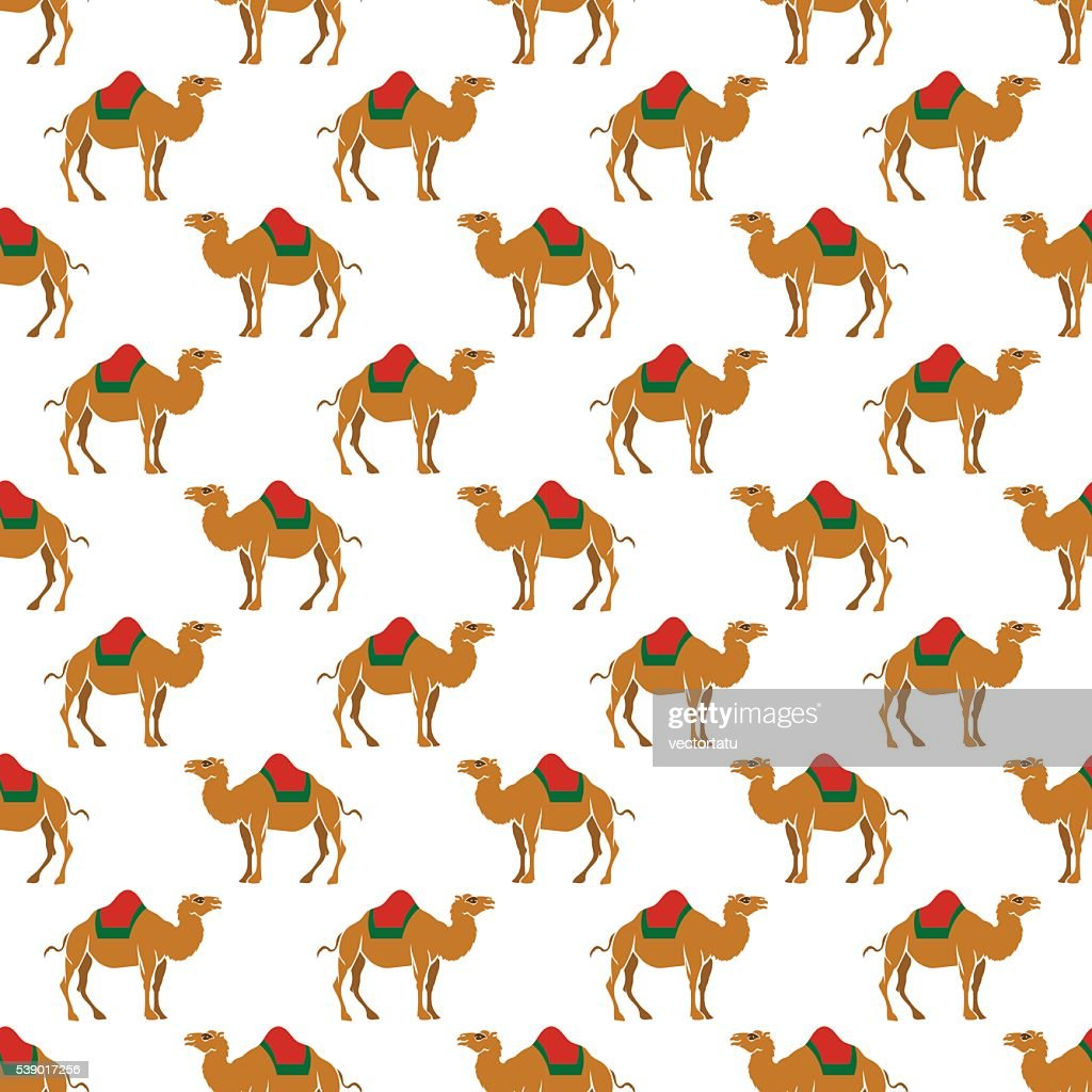 Seamless pattern with camel