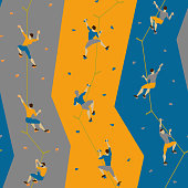 http://www.istockphoto.com/vector/seamless-pattern-with-climbers-on-climbing-wall-gm864903530-143562505