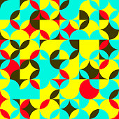 Seamless pattern with colored circles . Abstract background.