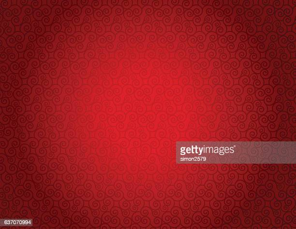 Seamless pattern with curly lines background