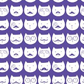 seamless pattern with cute cats