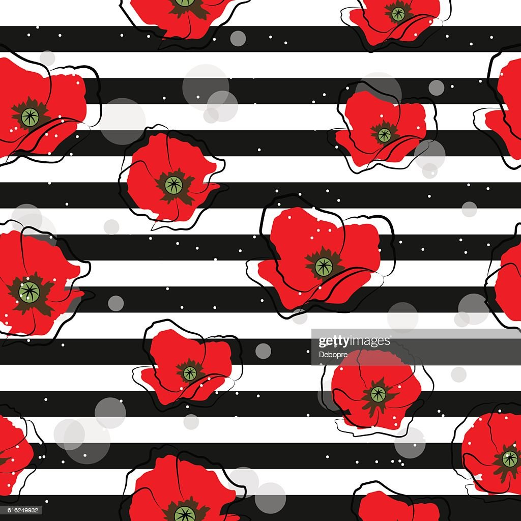 Seamless pattern with daisy flowers : Vector Art