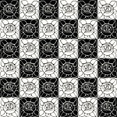 Seamless pattern with decorative art nouveau roses flowers.