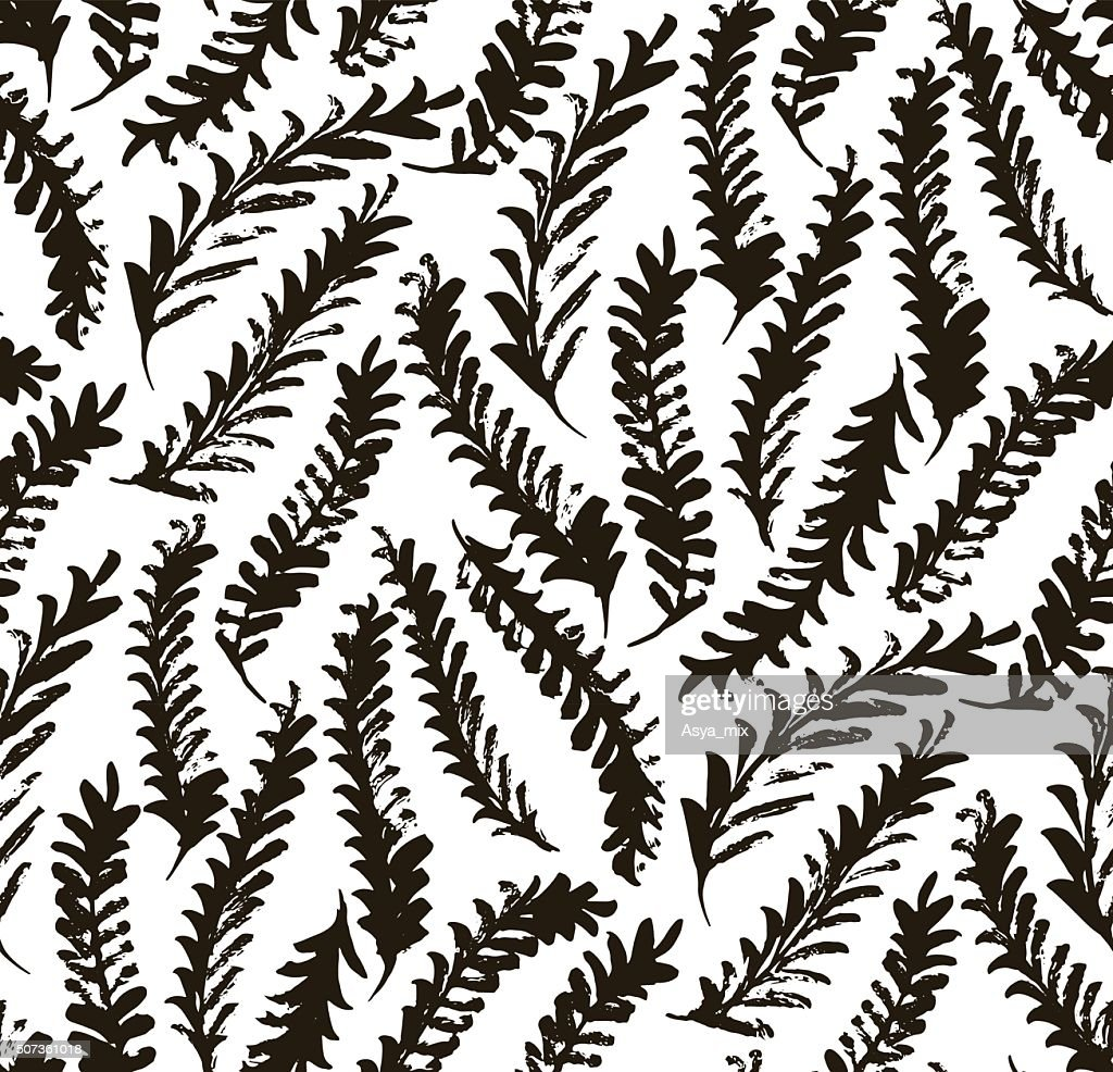 Seamless pattern with decorative branches.