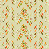 Seamless pattern with dot zig-zag ornament