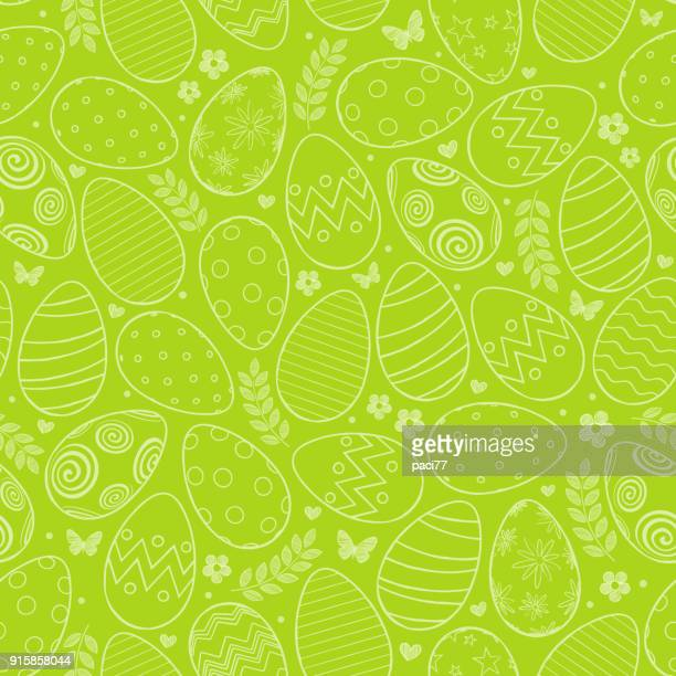 seamless pattern with easter eggs - easter stock illustrations