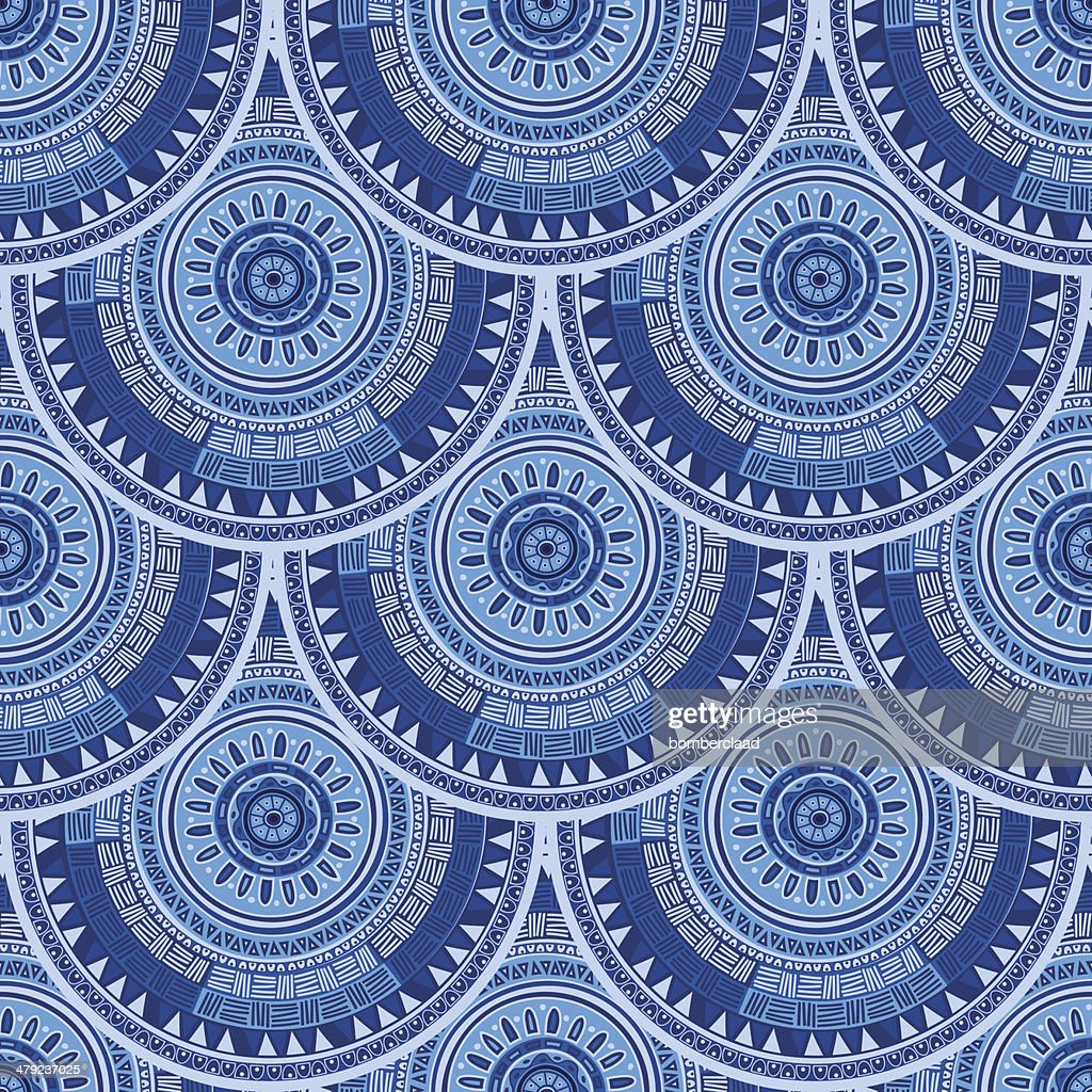 Seamless pattern with ethnic motif