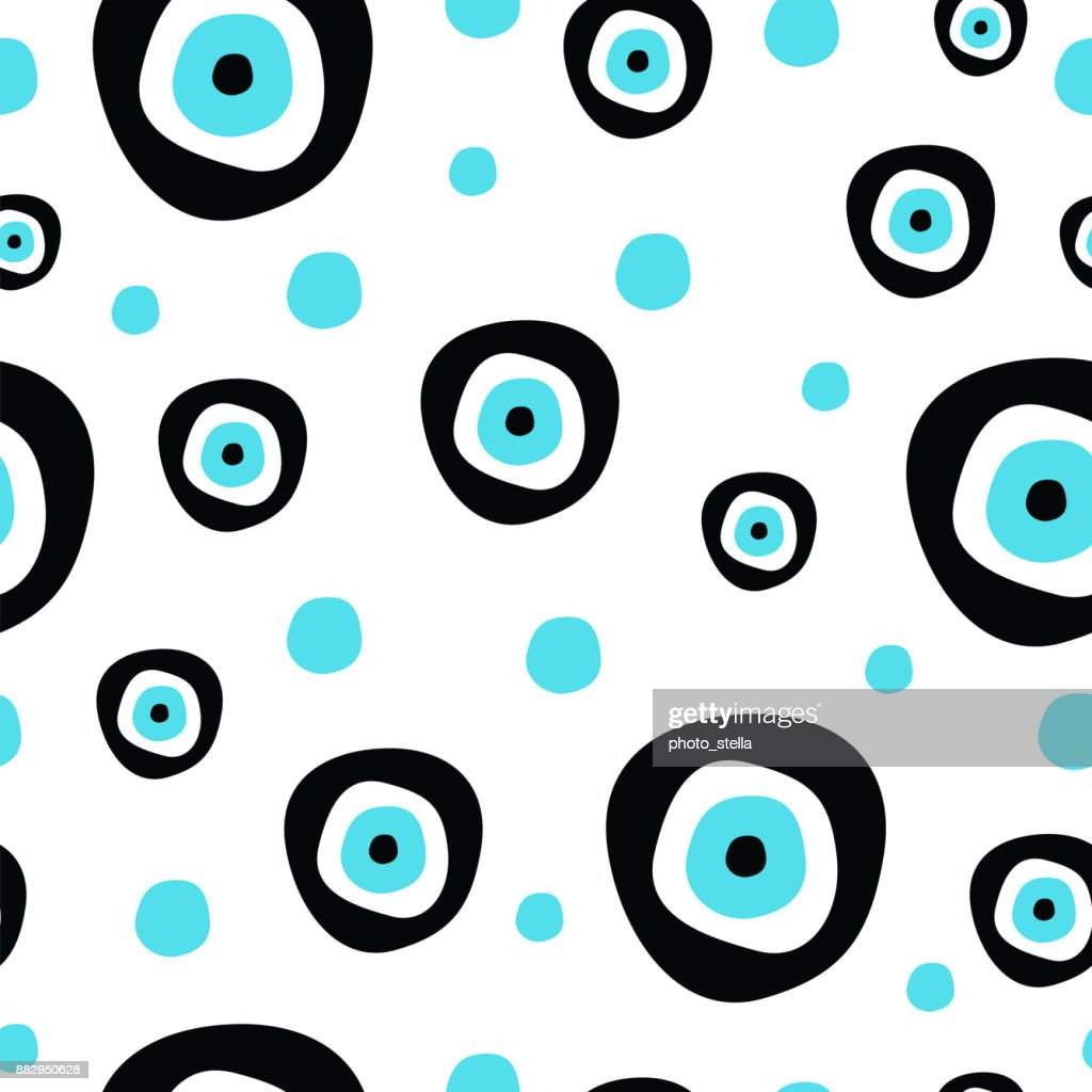 Seamless Pattern With Evil Eye Symbol Of Protection Vector Art